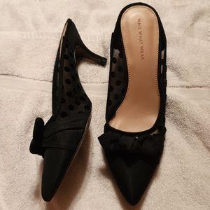 Who What Wear (Target Brand) black slide heels